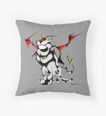 Black Voltron Lion Cubist Throw Pillow