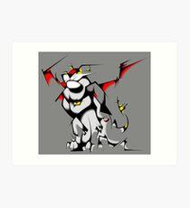 Black Voltron Lion Cubist Art Print