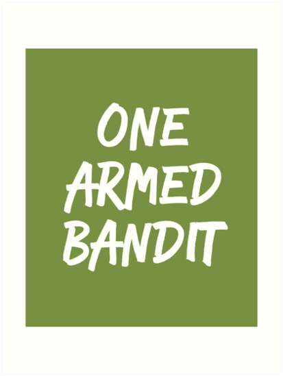 3aad7381 One Armed Bandit Funny Amputee T-Shirt