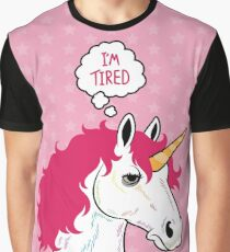I'm a Tired Unicorn Graphic T-Shirt