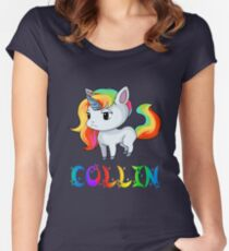 Collin Unicorn Women's Fitted Scoop T-Shirt