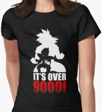 Goku and Vegeta : It's over 9000 Women's Fitted T-Shirt