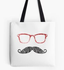 Moustglasses lovers - red Tote Bag