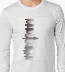 Zen stones isolated Long Sleeve T-Shirt