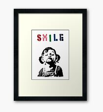 Banksy - SMILE Framed Print