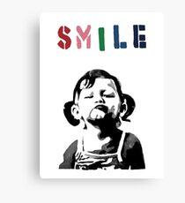 Banksy - SMILE Canvas Print