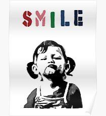 Banksy - LÄCHELN Poster