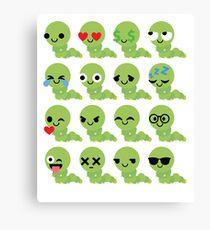 Caterpillar Emoji   Canvas Print