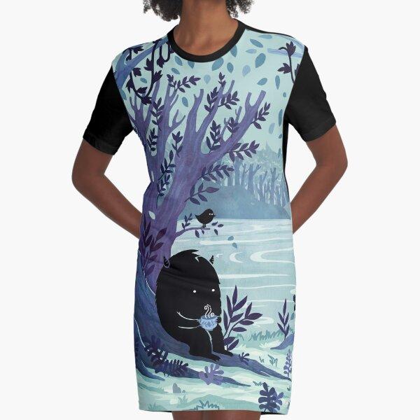 A Quiet Spot of Tea Graphic T-Shirt Dress