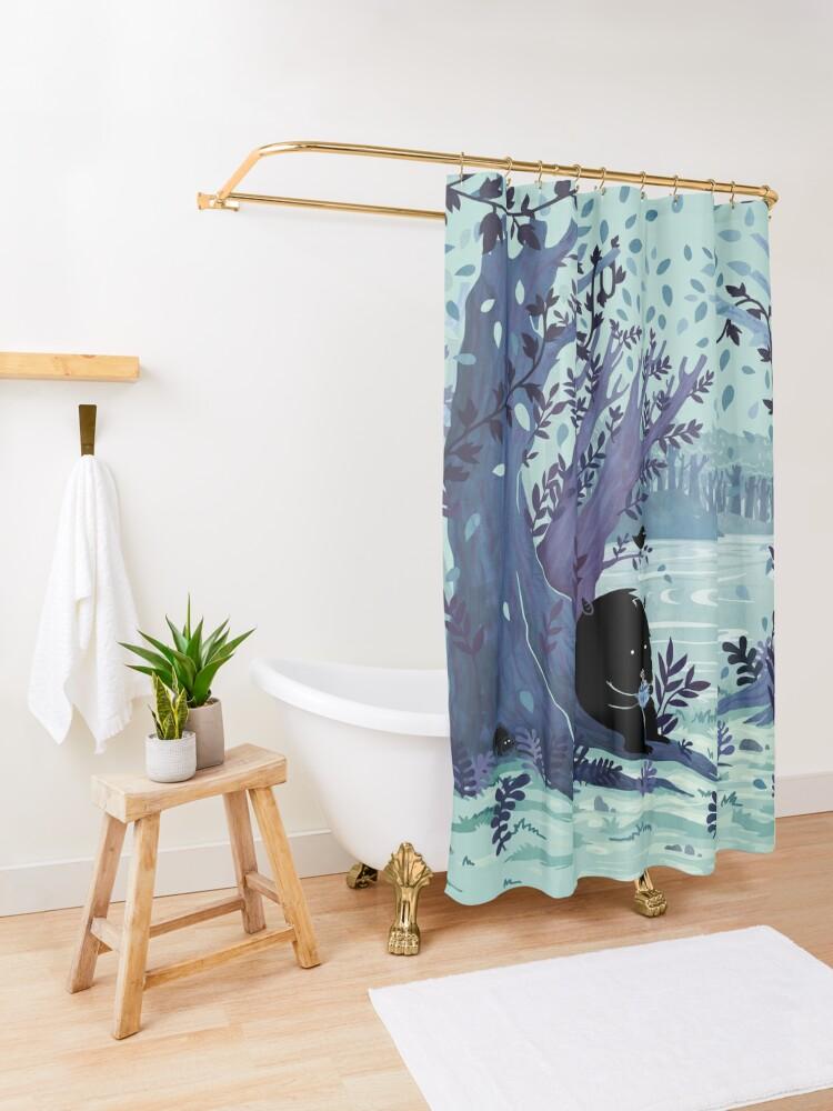 Alternate view of A Quiet Spot of Tea Shower Curtain