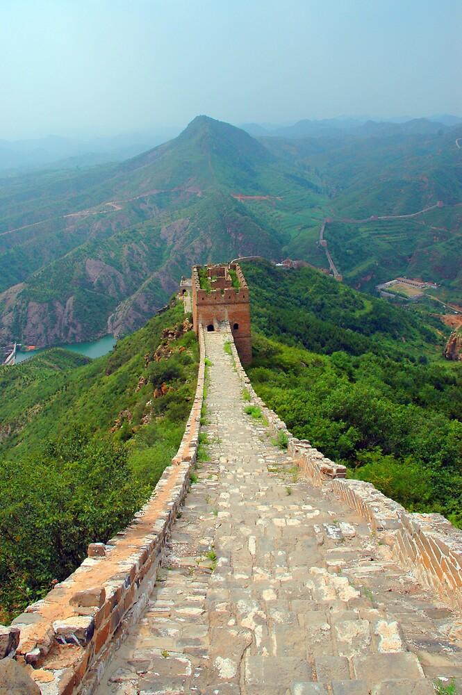 Great Wall Of China at Si Ma Tai by David Heckenberg