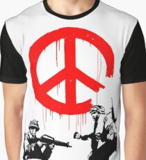 Banksy - Soldiers Painting Peace (CND Soldiers) Graphic T-Shirt
