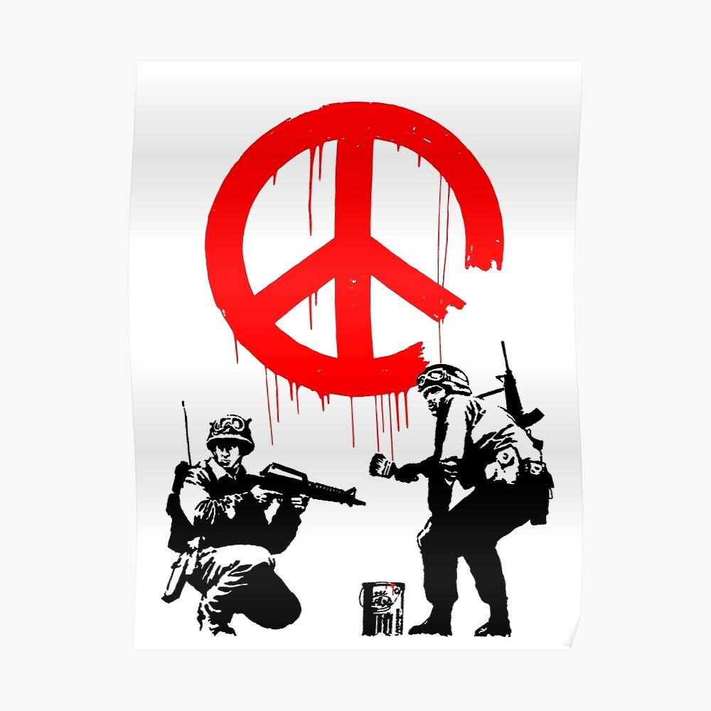 Banksy - Soldaten malen Frieden (CND Soldaten) Poster