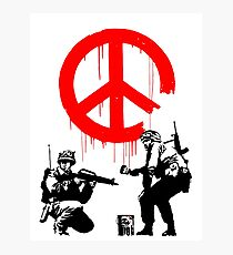 Banksy - Soldiers Painting Peace (CND Soldiers) Photographic Print