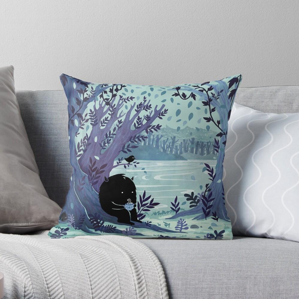 A Quiet Spot of Tea Throw Pillow