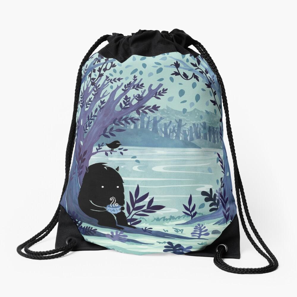 A Quiet Spot of Tea Drawstring Bag