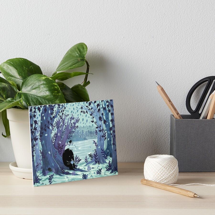 A Quiet Spot of Tea Art Board Print
