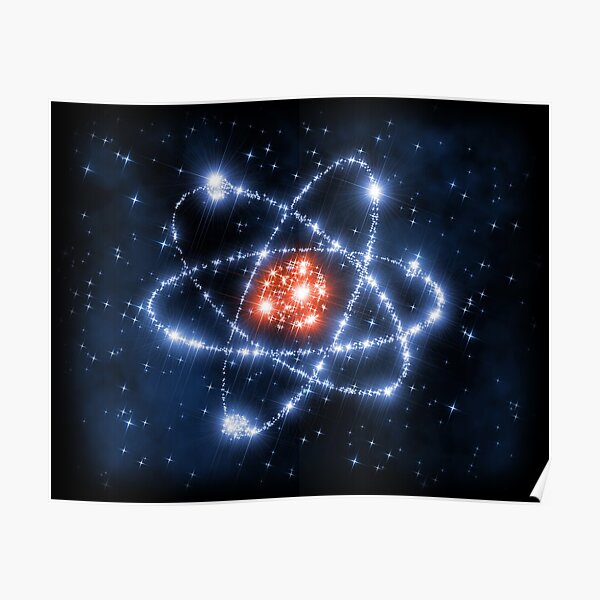 Science Sign Symbol Atom Space Stars Poster