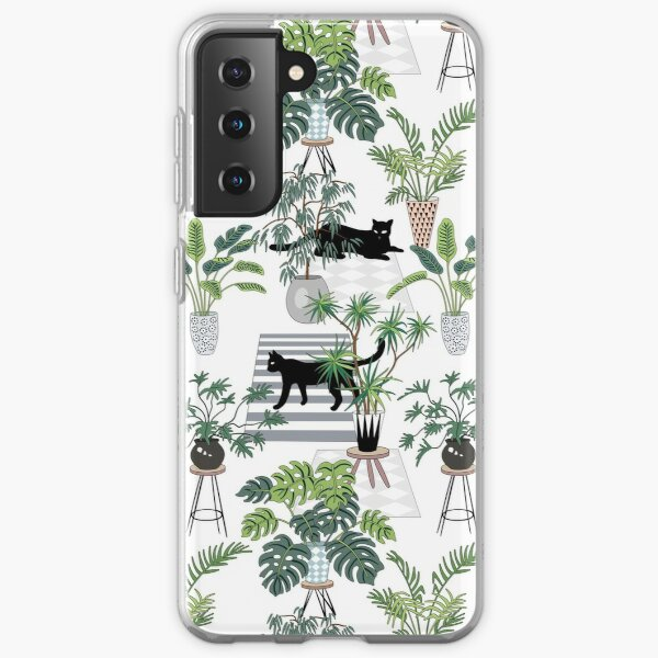 cats in the interior pattern Samsung Galaxy Soft Case