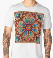 Mandala of the Red Vines Men's Premium T-Shirt