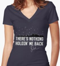 TNHMB Shawn Mendes Women's Fitted V-Neck T-Shirt
