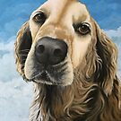 Gracie - Golden Retriever painting  by LindaAppleArt