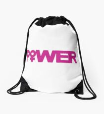 Girl Power Drawstring Bag