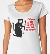 Banksy - Out of Bed Rat Women's Premium T-Shirt