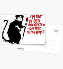 Banksy - Out of Bed Rat Postcards