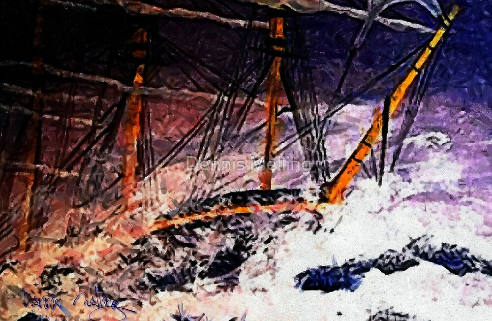 An acrylic painting of Racing the Storm in the Bay of Biscay (includes video) by Dennis Melling