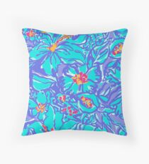 lily pulitzer print Throw Pillow