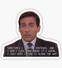 Michael Scott Sentence Sticker