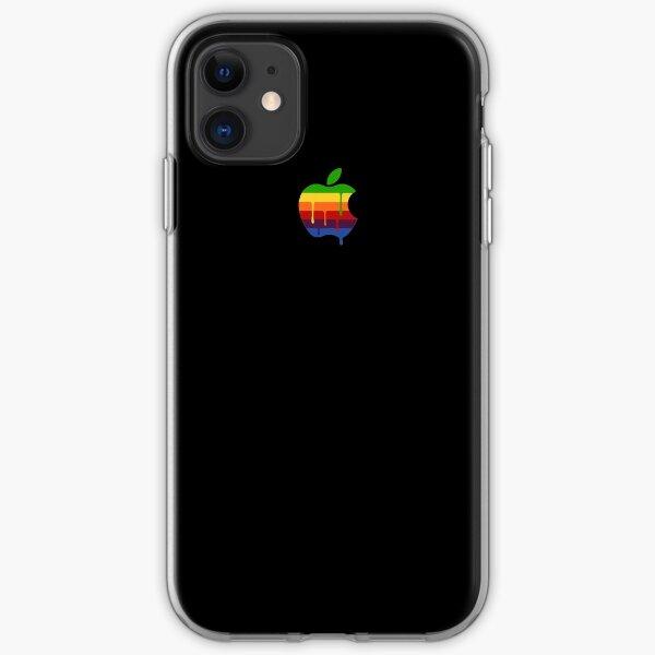 Black Paint Drip Classic Apple Logo iPhone iPad and Laptop Case iPhone Soft Case