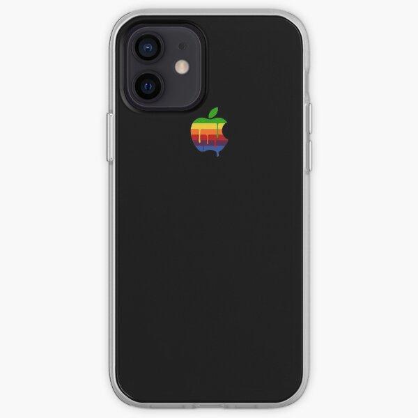 Black Paint Drip Classique Apple Logo iPhone iPad et étui pour ordinateur portable Coque souple iPhone