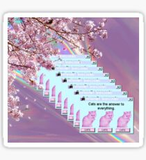 Vaporwave Cats Sticker