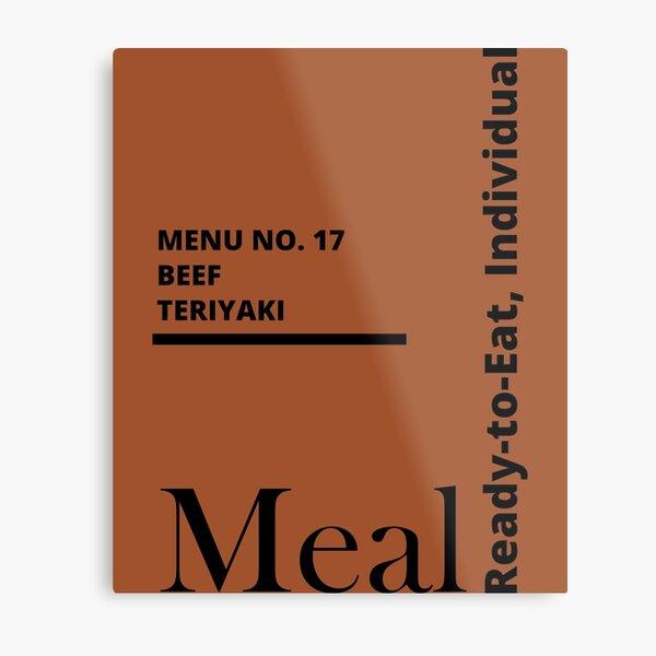 MRE Meal Ready to Eat Beef Teriyaki Metal Print