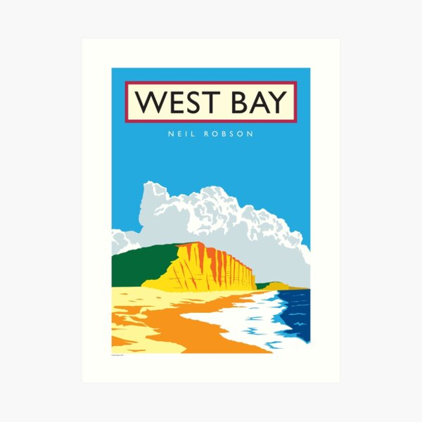 West Bay, Dorset Art Print