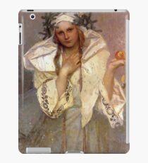 Alphonse Mucha - Christmas in America  iPad Case/Skin