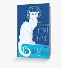 Le Chat Blanc Greeting Card