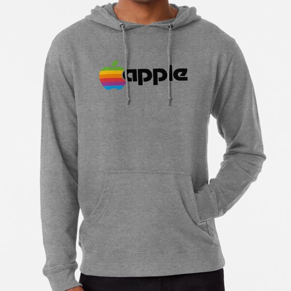 Classic Apple Font Colour Logo iPhone, iPad and Laptop Case Lightweight Hoodie