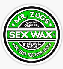 Sex Wax Original Never Spoils Lime Green Sticker