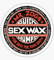 Sex Wax Quick Humps Black Red White Sticker