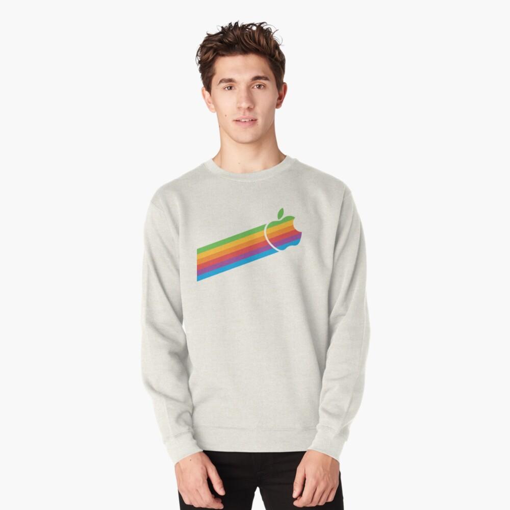 Swoosh Classic Apple Logo iPhone, iPad and Laptop Case Pullover Sweatshirt