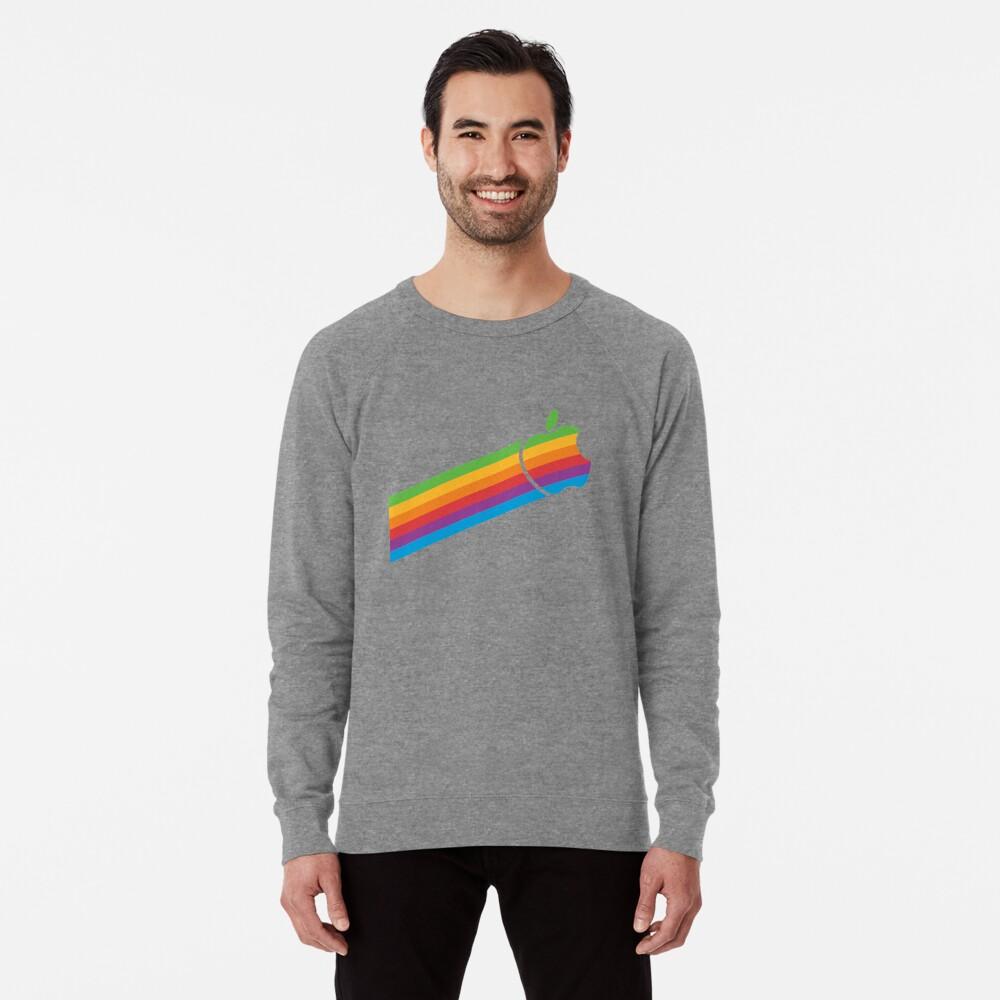 Swoosh Classic Apple Logo iPhone, iPad and Laptop Case Lightweight Sweatshirt