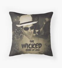 The Wicked Heart of Man Throw Pillow