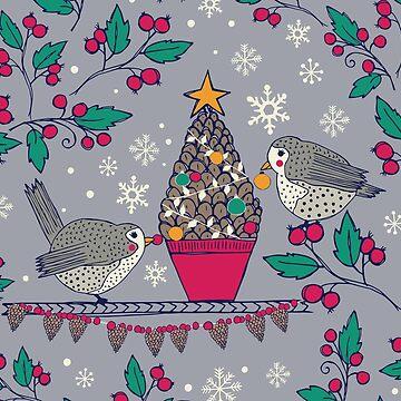 Happy Holiday Birds by JMHurd