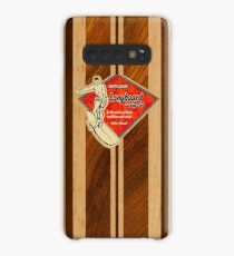 Funda/vinilo para Samsung Galaxy Waimea Hawaiian Faux Koa Wood Tabla de surf