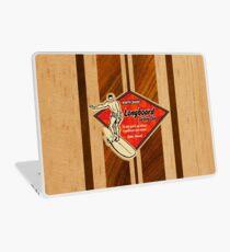 Waimea Hawaiian Faux Koa Wood Surfboard   Laptop Skin