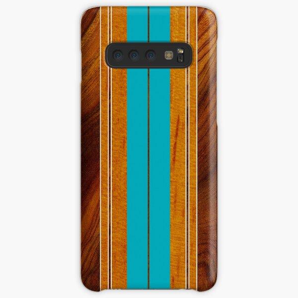 Nalu Mua Hawaiian Faux Koa Holz Surfbrett - Blaugrün Samsung Galaxy Leichte Hülle