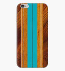Nalu Mua Hawaiian Faux Koa Holz Surfbrett - Teal iPhone-Hülle & Cover